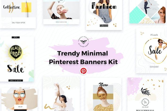 Thumbnail for Pinterest Social Media Banners Kit