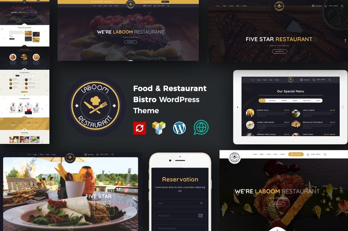 Thumbnail for La Boom - Comida & Restaurante Bistro WordPress Tema