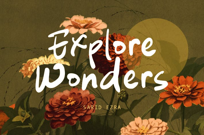 Explore Wonders - Fuente manuscrita en negrita