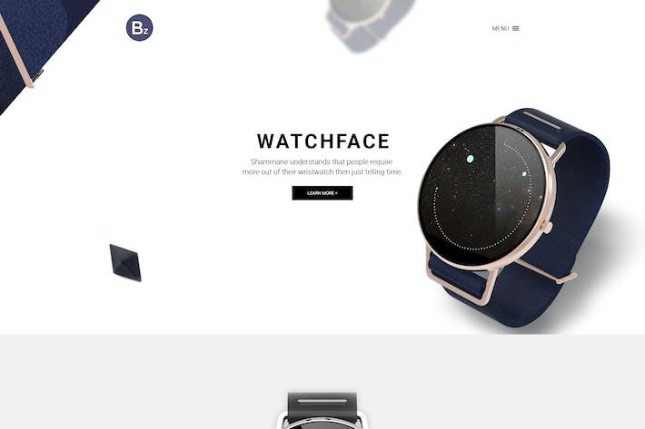 Thumbnail for Beza — Одноместный продукт PSD Шаблон
