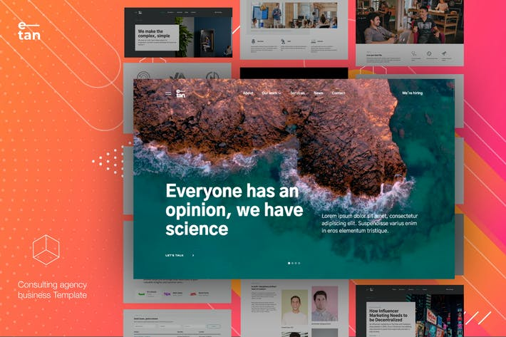 Thumbnail for E—tan - Digital Consulting Agency HTML Template