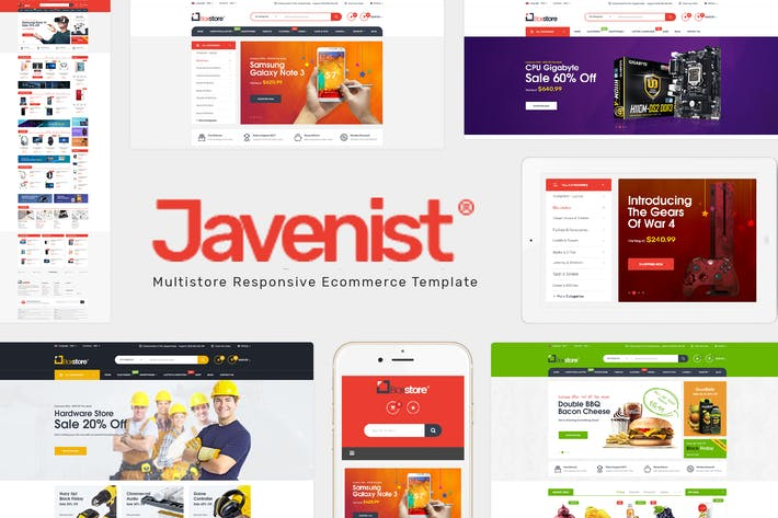 Thumbnail for Javenist - Multipurpose eCommerce WordPress Theme