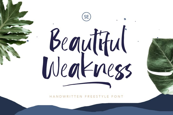 Thumbnail for Beautiful Weakness - Handwritten Font