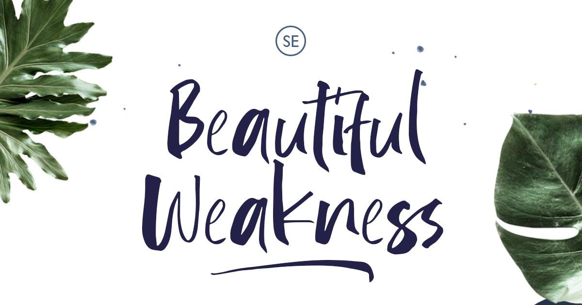 Download Beautiful Weakness - Handwritten Font by saridezra