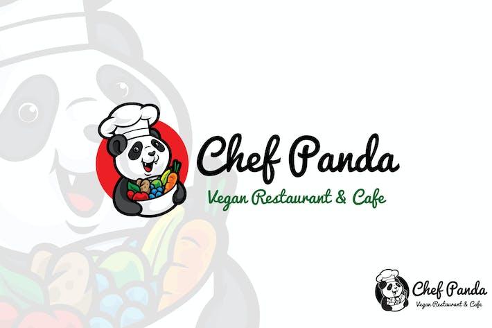 Thumbnail for Chef Panda Vector Logo Mascot