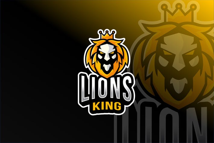 Lions King Mask Esport Logo Template