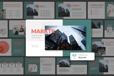 MARKTR - Marketing Plan Keynote Template