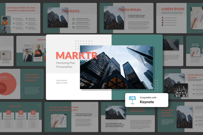 Thumbnail for MARKTR - Marketing Plan Keynote Template