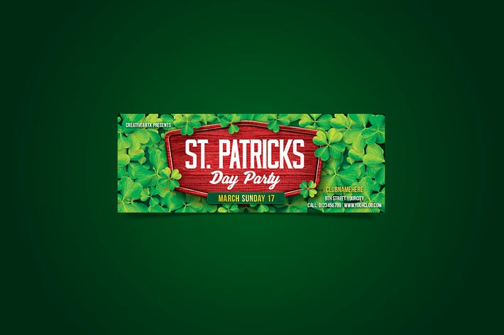 couverture facebook de la fête de la st. patrick