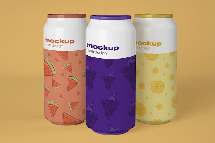 Getränkedosen-Mockup