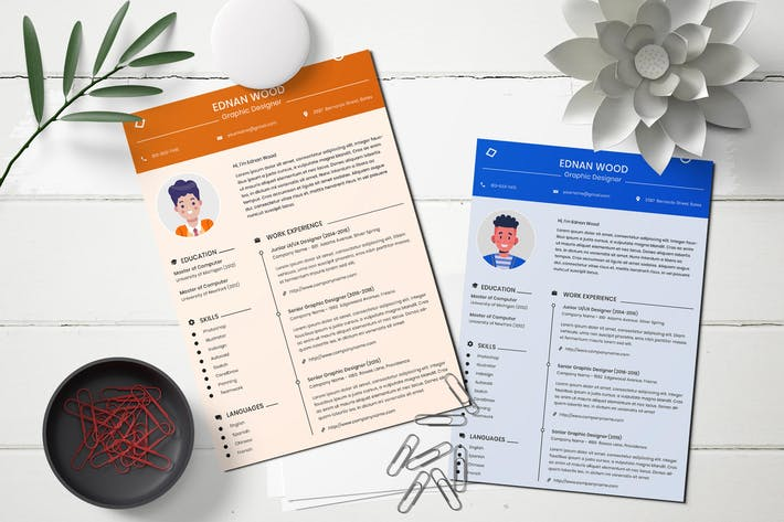 Cover Image For CV Resume Template