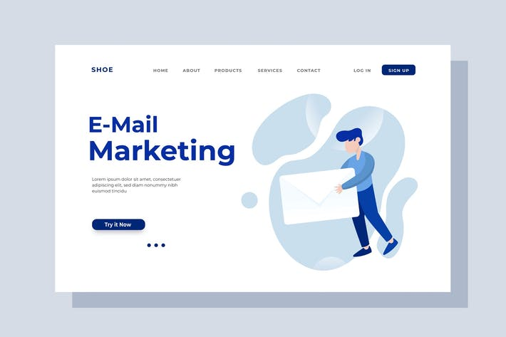 Thumbnail for Email Marketing Landing Page Illustration