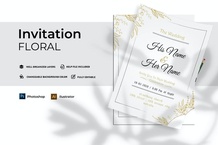 Thumbnail for Mariage floral | Invitation