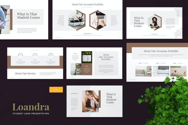 Thumbnail for Loandra - Студенческий кредит Шаблон слайдов Google