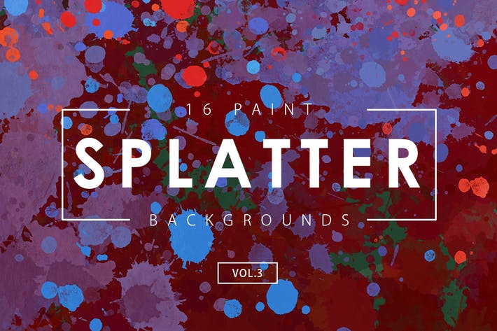 Thumbnail for 16 Paint Splatter Backgrounds Vol. 3