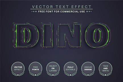 Dino - Editable Text Effect, Font Style
