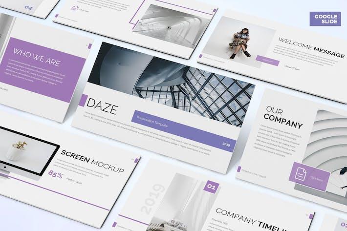 Cover Image For Daze - Бизнес Google Слайды Шаблон