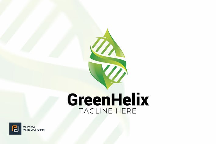 Thumbnail for Green Helix - Logo Template