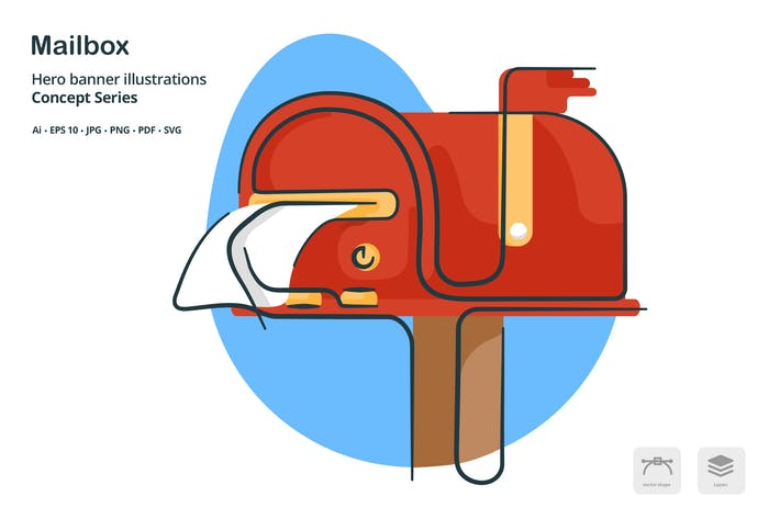 Thumbnail for Mailbox Inbox Vector Illustration