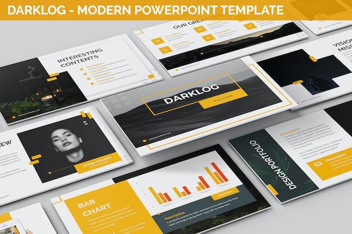 Thumbnail for Darklog - Modern Powerpoint Template