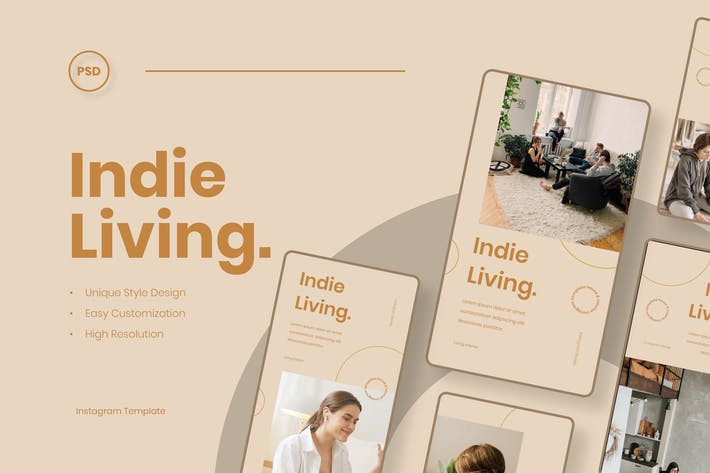 Thumbnail for Indie Living - Interior Instagram Stories