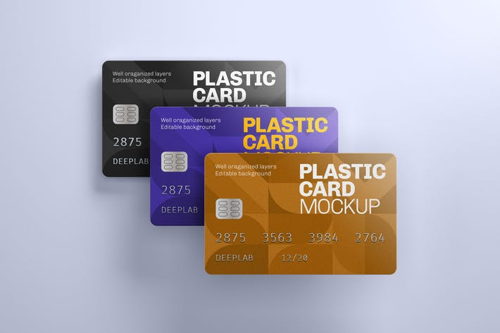 Thumbnail for Plastic Card Mockup | Credit Card