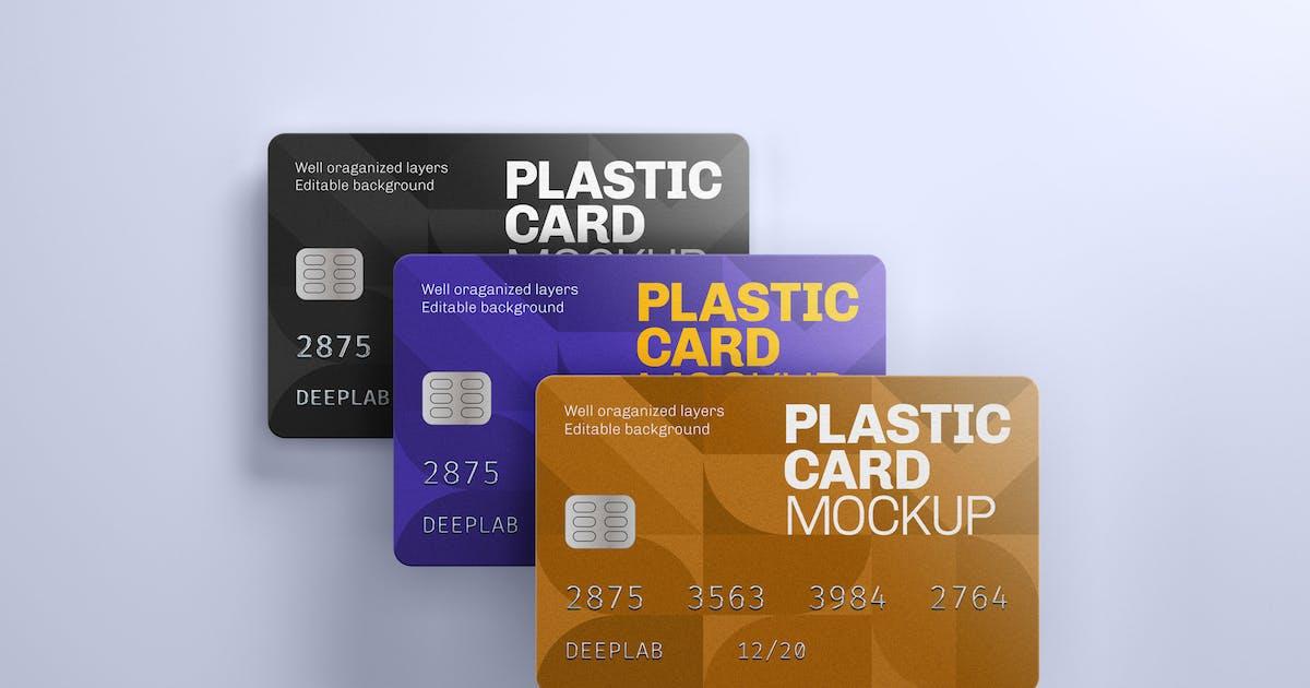 Download Plastic Card Mockup   Credit Card by deeplabstudio