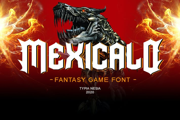Thumbnail for Mexicalo - Game Font