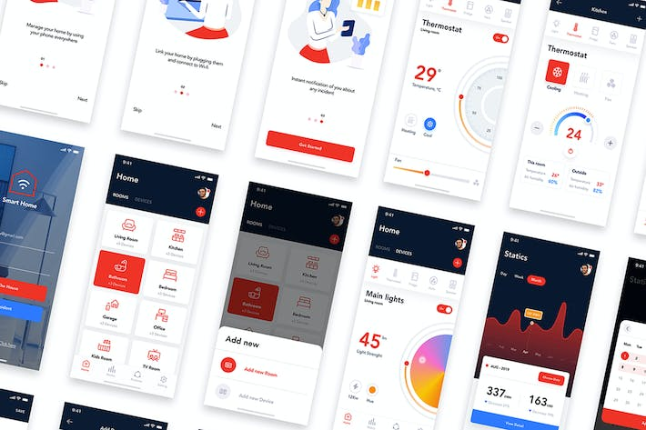 Thumbnail for Smart Home UI Kit - XD Version