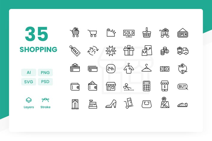 Thumbnail for Shopping - Icons Pack
