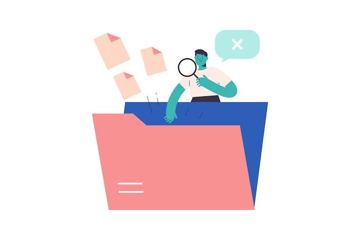 Thumbnail for Dateisuche flache Illustration