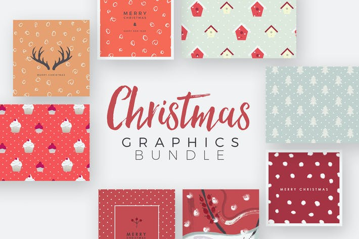 Thumbnail for Christmas Graphics Set