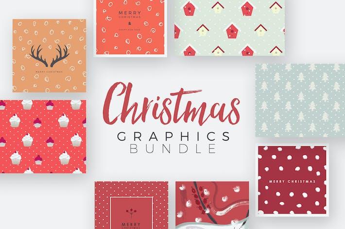 Thumbnail for Weihnachts-Grafiken -Set