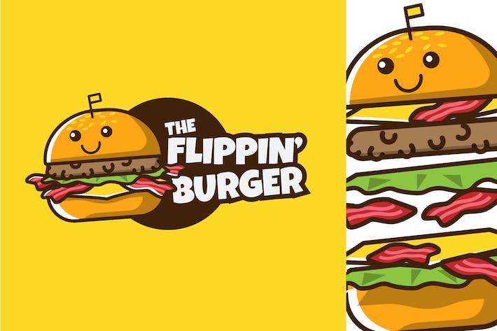 Thumbnail for FLIPPIN BURGER - Mascot & Esport Logo