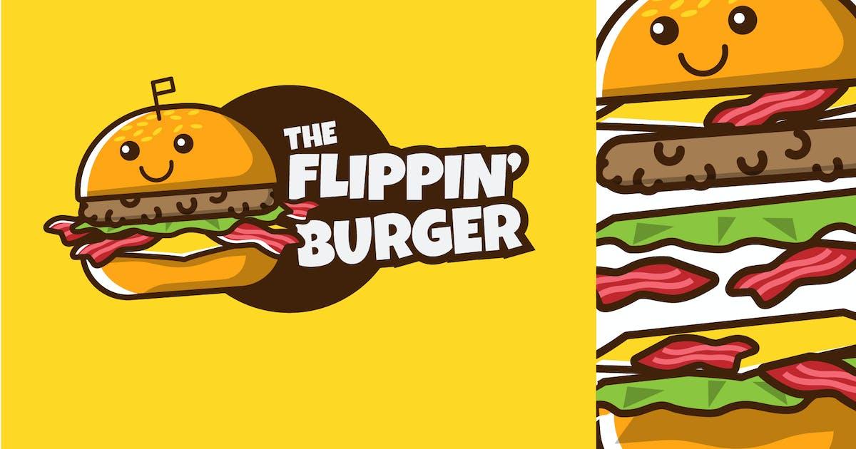 Download FLIPPIN BURGER - Mascot & Esport Logo by aqrstudio