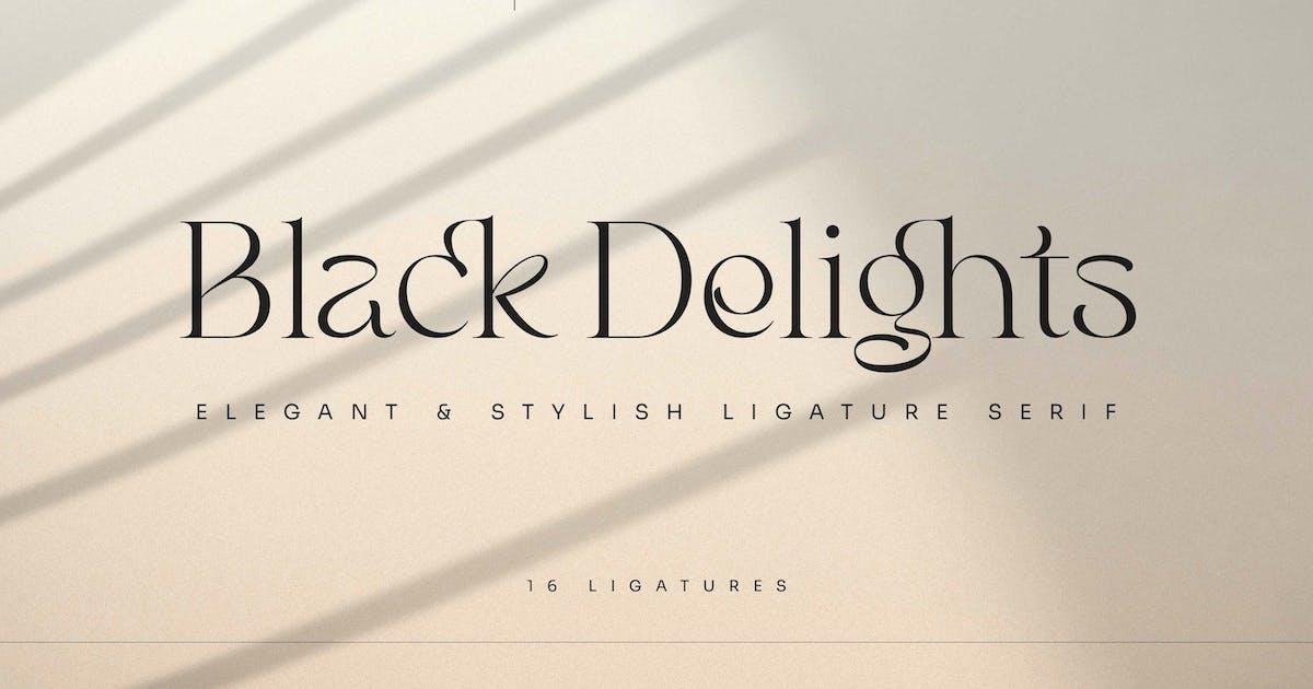 Download Black Delights - Elegant Serif by mokatype