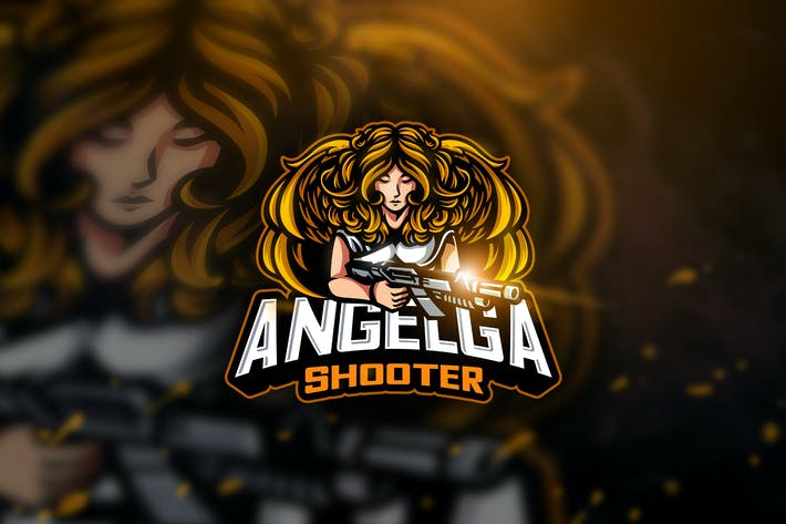 Thumbnail for Angelga Shooter - Mascot & Esport Logo