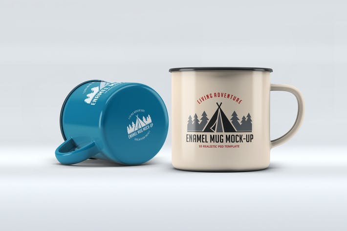 Thumbnail for Enamel Mug Mock-Up
