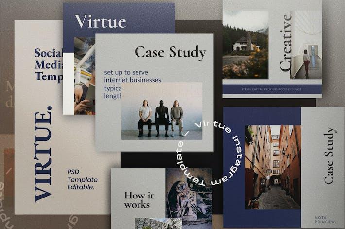 Thumbnail for VIRTUE - Social Media Vorlage + Stories