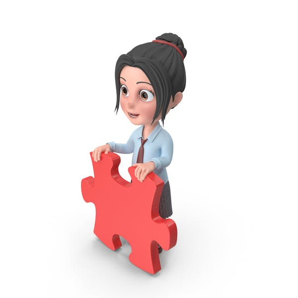 Cover Image for Cartoon Girl Emma Holding Puzzle Piece