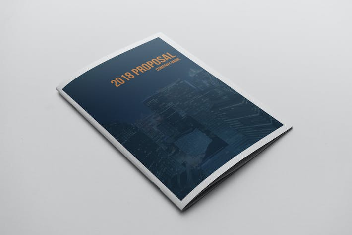 cover image for business project proposal template
