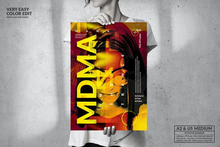 Thumbnail for MDMA Music Passion - Big Poster Design