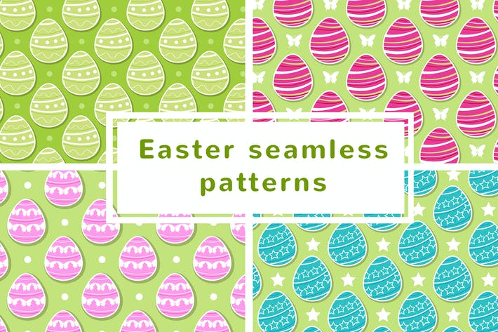 Thumbnail for Easter Seamless Patterns