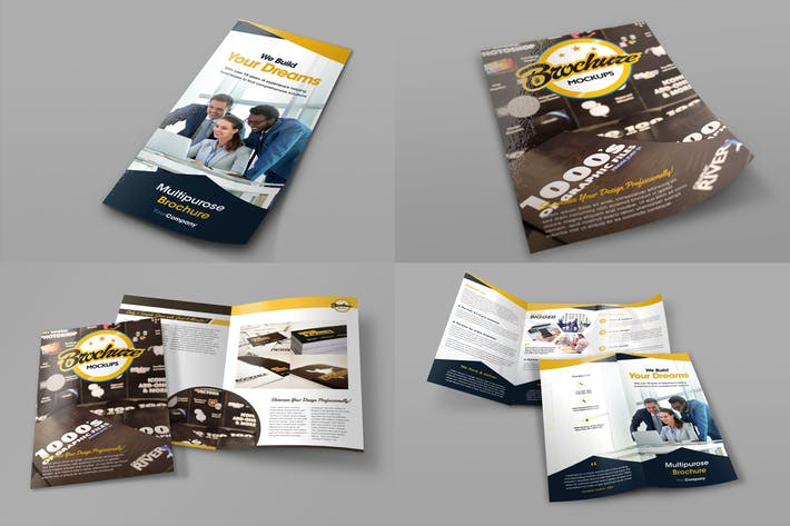 Thumbnail for Bifold and Trifold Brochure Mockups
