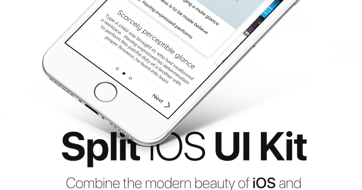 Download Split iOS UI Kit by getCraftwork