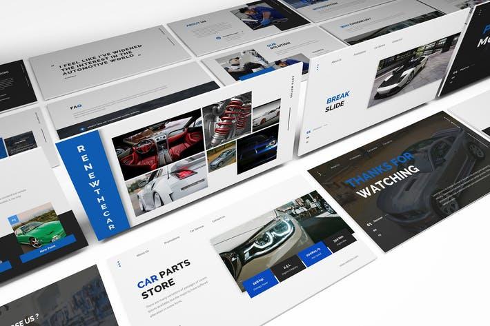 Thumbnail for Car Parts Store Powerpoint Template