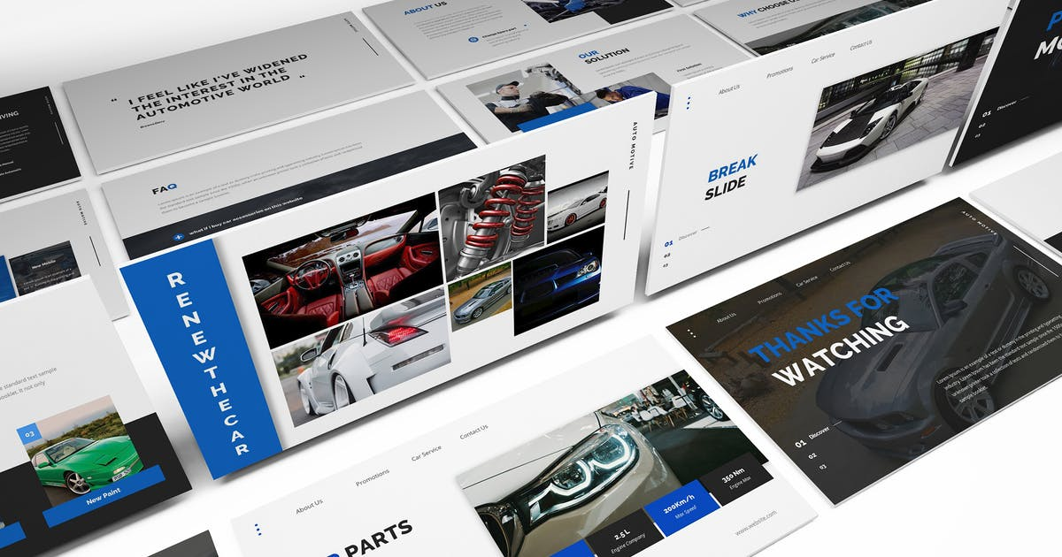 Download Car Parts Store Powerpoint Template by Formatika