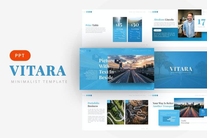 Thumbnail for Vitara - Minimalist Powerpoint Template