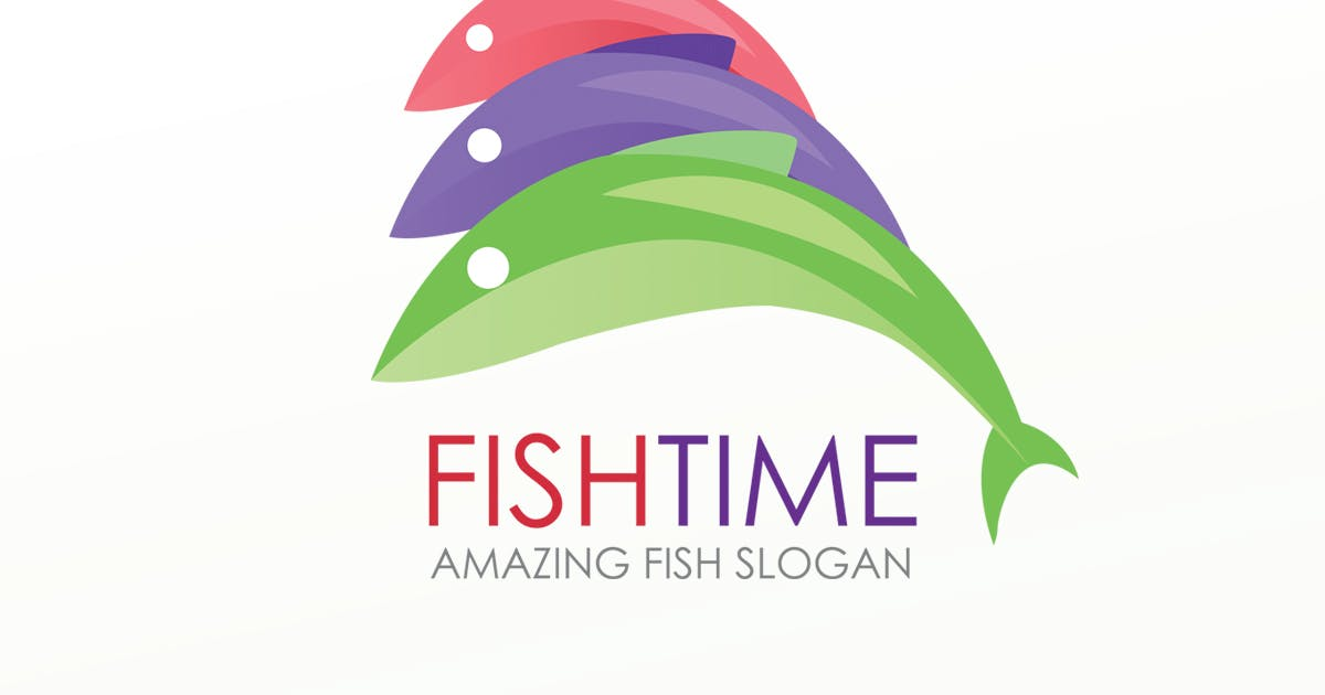Download FishTime Logo Template by BooStock