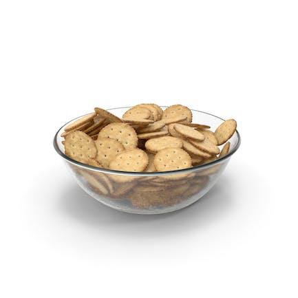 Bowl with Circular Crackers